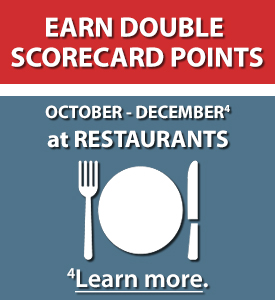 Earn Double Scorecard Points. April-June at Home Improvement Stores. Learn more.